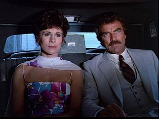 Carol (Kathleen Lloyd) & Magnum (Tom Selleck)
