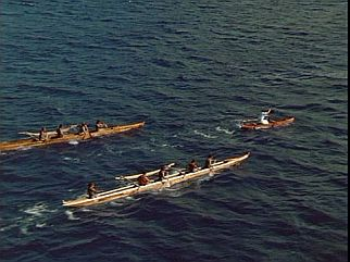 Outrigger Canoe Chase