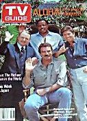 John Hillerman, Tom Selleck, Roger E. Mosley & Larry Manetti - May, 1988