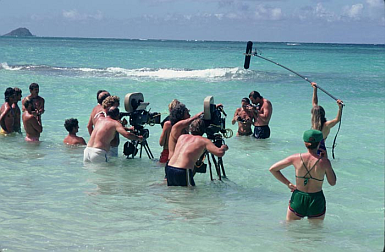 Shooting the famous snorkel scene from 'Three Minus Two'