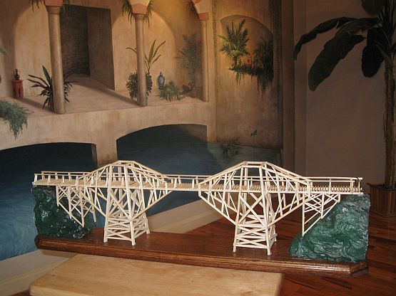 River Kwai Bridge Model & Moroccan Mural(by Tom S.)
